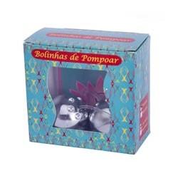 KIT BOLINHA DE POMPOAR CROMADA 02 UNIDADES