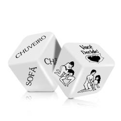 jogo de dados com 2 peças
