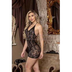 Mini Vestido Sensual Frente Única com Detalhes Yaffa Lingerie