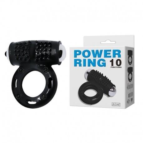 Anel Peniano com Cápsula 10 Vibrações - Power Ring