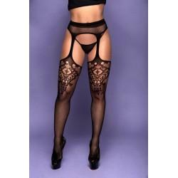 Meia calça arrastão tipo cinta-liga - Y 2087 - Yaffa