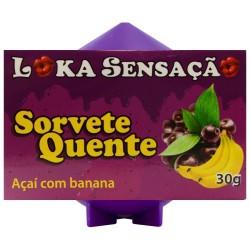 Sorvete Quente Vela Comestível beijinho 30g Loka Sensação