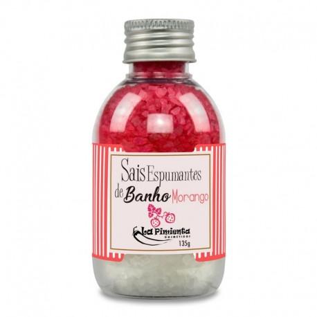 SAIS ESPUMANTES DE BANHO - FRAGRÂNCIA MORANGO     Proporcionam um banho revigorante e relaxante, renova a pele mantendo a hidrat